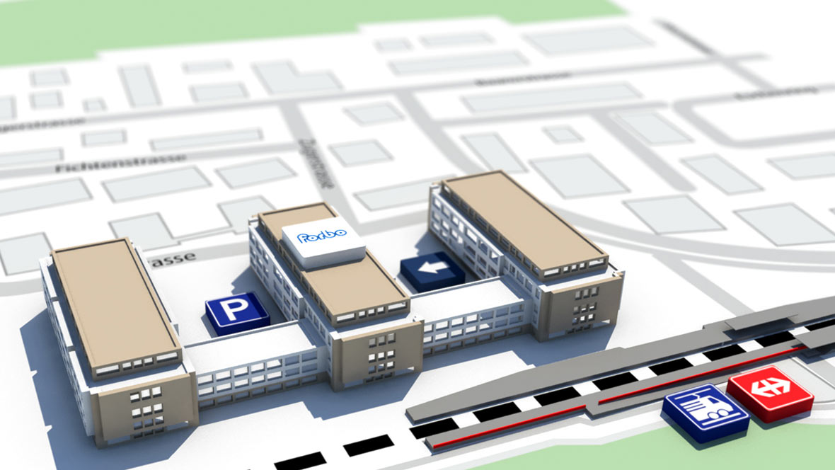 Map for Headquarters in Baar, Zug - Switzerland