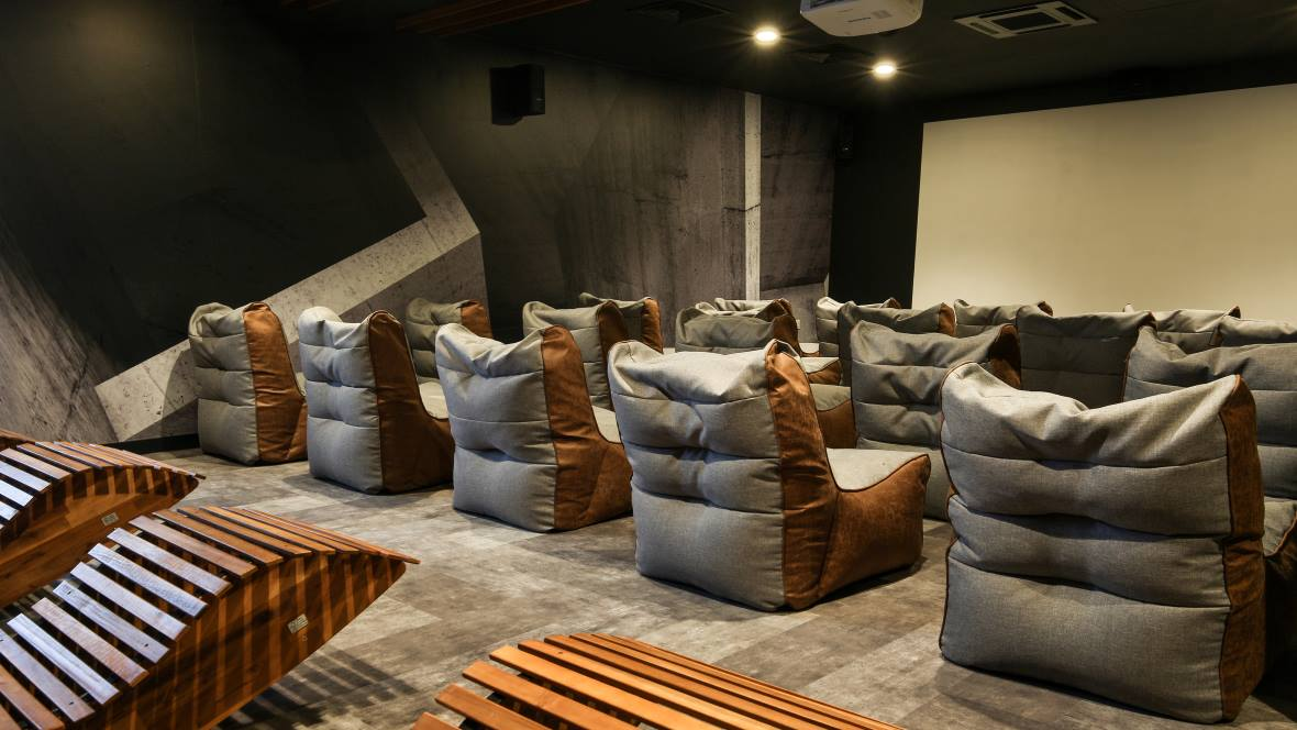 iQ Accommodation Cinema Flotex Concrete Planks