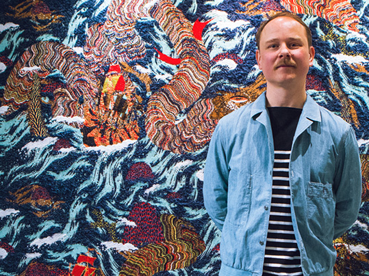 Kustaa Saksi portrait woolgathering exhibition