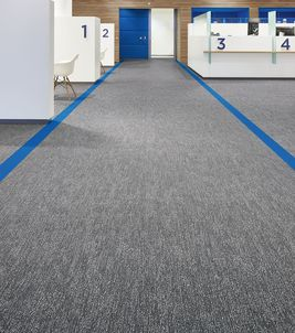 Flotex flocked flooring - commercial textile flooring
