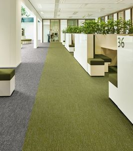 Flotex flocked flooring - Allergy UK approved commercial textile flooring