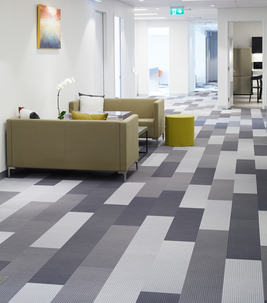 Flotex flocked flooring - textile planks - commercial interiors