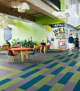 Flotex Colour flocked flooring - textile planks - commercial flooring