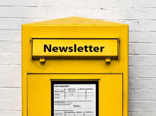 Newsletter Registrierung