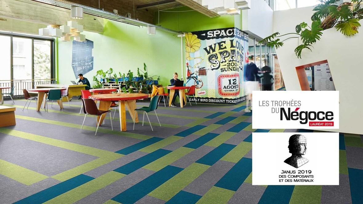 Revêtement de sol textile floqué, Trophées du négoce & Janus | Forbo Flooring Systems