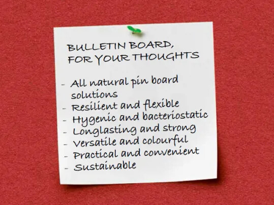 Düşünceleriniz için Bulletin Board…