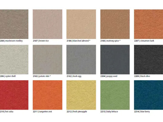 Bulletin Board colour overview