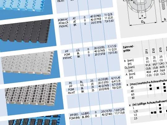 Robuste Ausführung garantiert. Kunststoffmodulbänder Prolink Serie 8