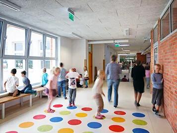 Korridor på grundskola