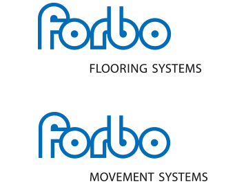 Brand overview 2012 with the divisions Forbo Flooring Systems und Forbo Movement Systems.