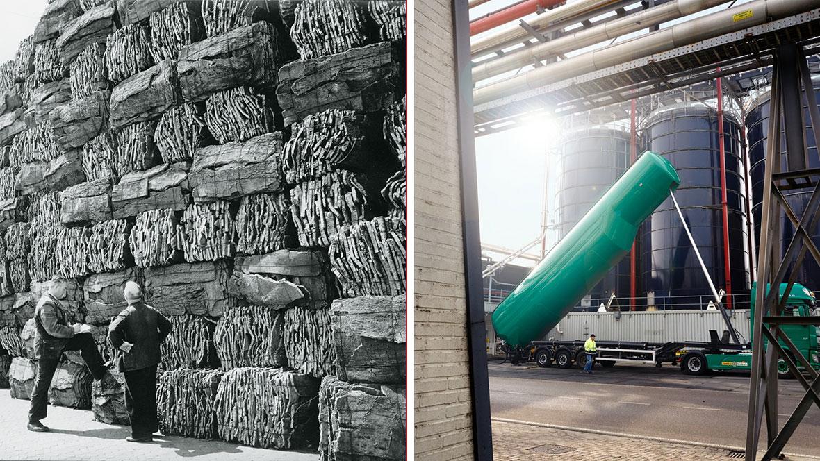 Rohstoffanlieferung gestern und heute