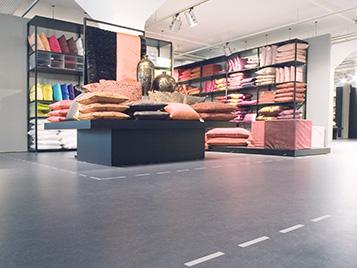 Linoleum im Laden- und Retailbereich