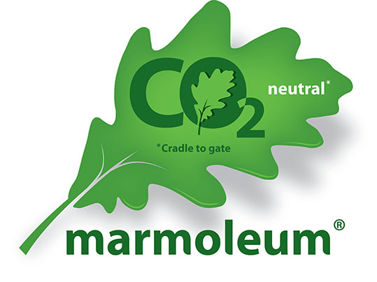 New co2 netural marmoleum