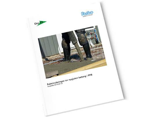 Rapport: Fuktsimuleringar av nygjuten betong i PPB – Dry-IT