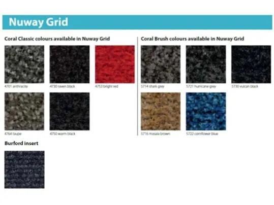 Tapis de propreté rigide Nuway grid - coloris   Forbo Flooring Systems