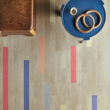 Eternal wood 10132 bright colourful planks