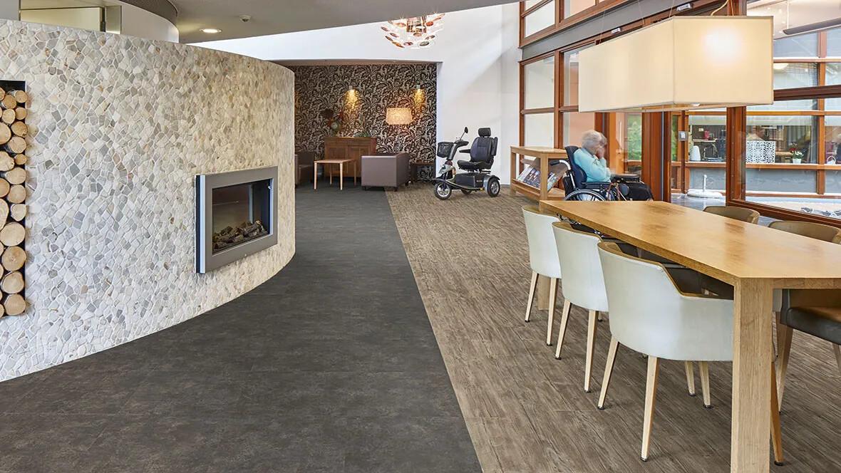 Allura 60085 weathered rustic pine | 62419 nero concrete