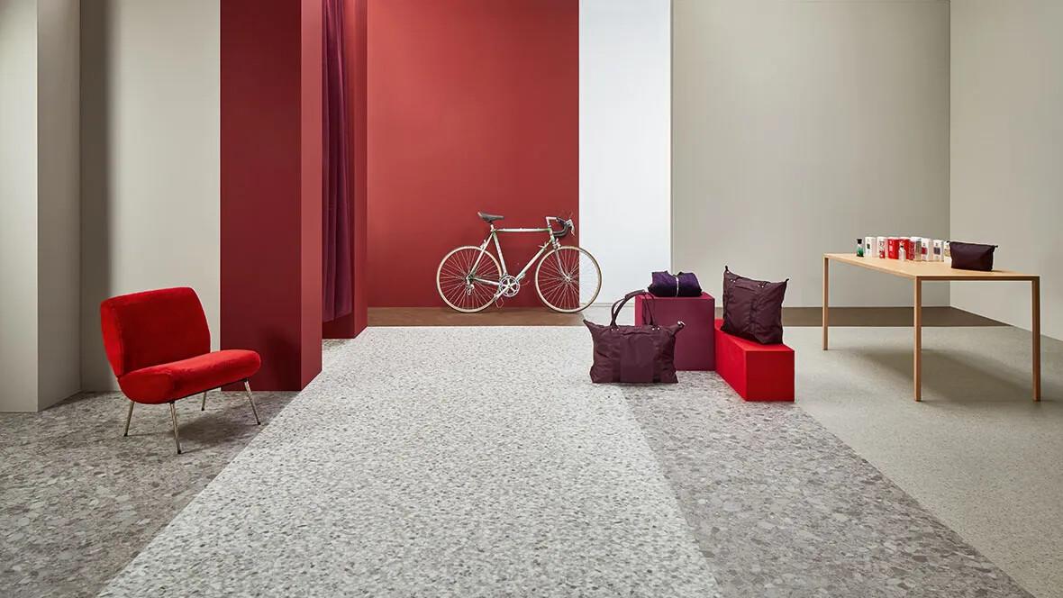 Allura 63456 grey marbled stone | 63486 grey terrazzo | 63468 grey stone