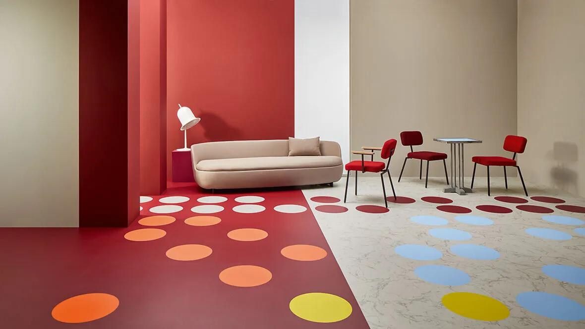 Allura 63476 burgundy | 63576 burgundy circle | 63450 white marble  | 63550 white marble circle  | 63582 azur circle | 63584 mustard circle | 63574 pink coral circle