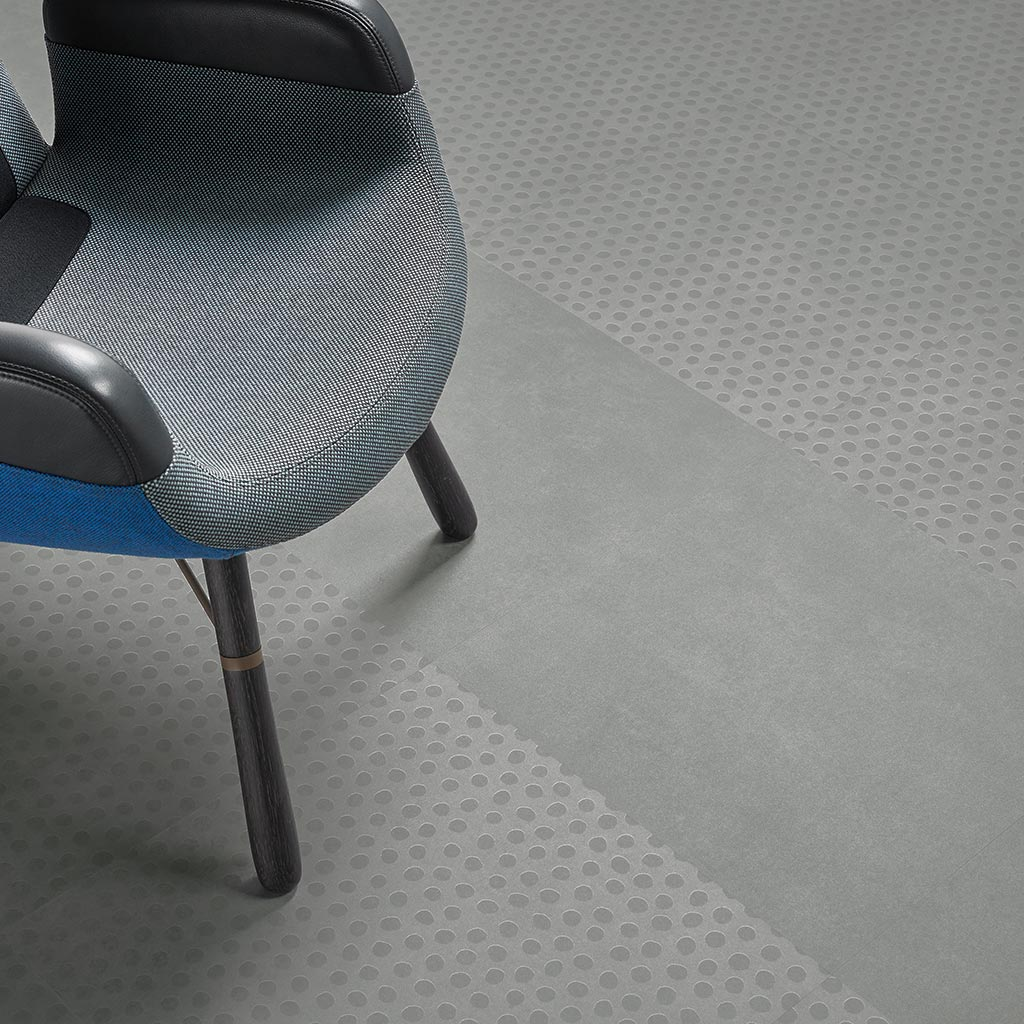 Allura 62522 natural concrete | 63434 cool concrete dots