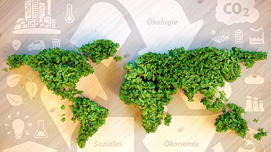 Nachhaltigkeit, Ökologie, Ökonomie, Soziales
