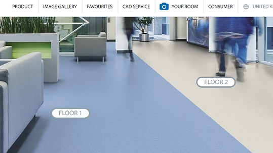 Play with out floors in various room scenes, like healthcare facilities, schools, restaurants ts.