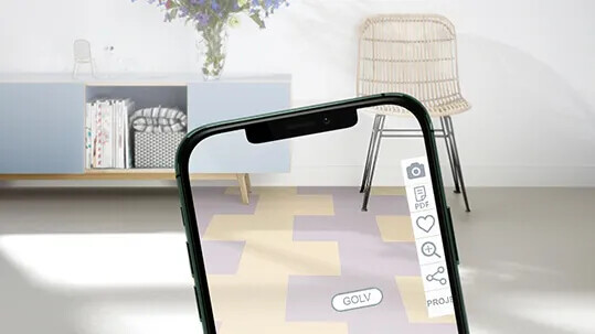 Forbo Floorplanner smartphone