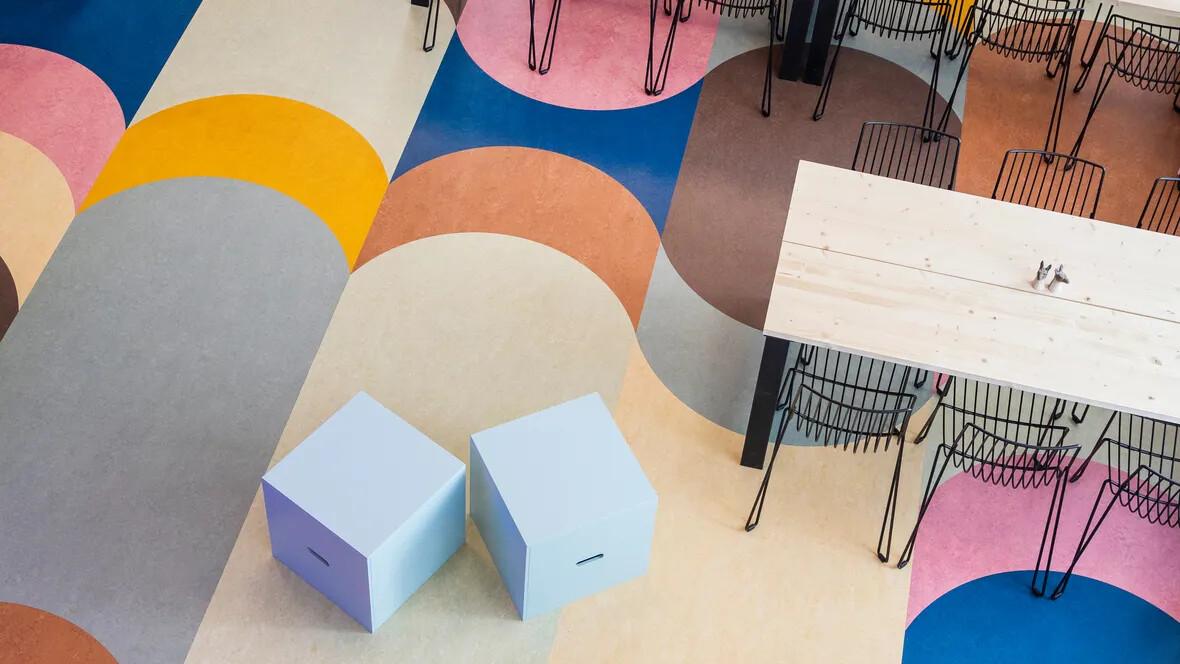 Linoleum in office environment