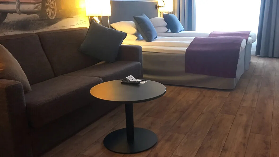Flotex Vision in a hotel room in Stockholm