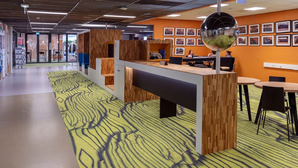 Flotex flocked flooring in Stenden university