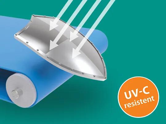 UV-C-resistente Transportbänder