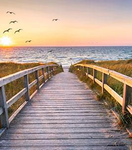Strandurlaub - Meer - Sonnenuntergang