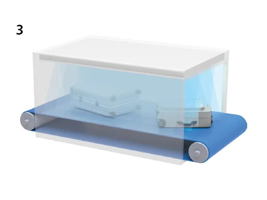 UV-C Baggage handling