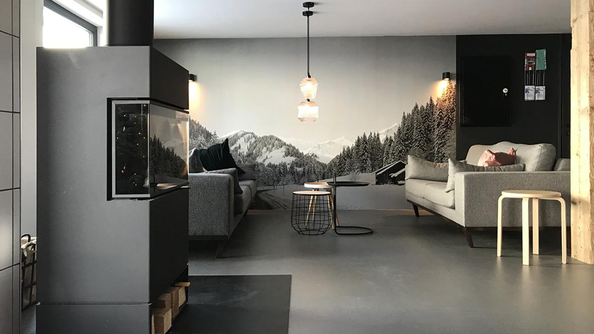 grijze Marmoleum Click vloer in KWT Lodge