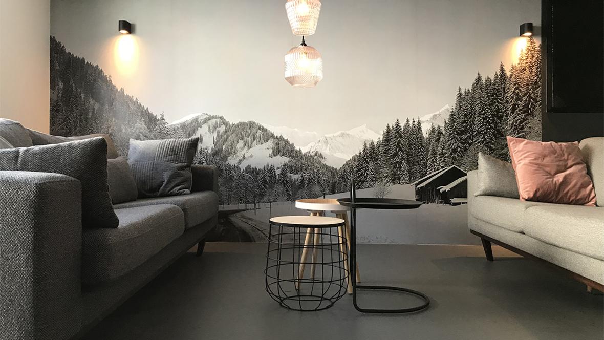 KWT Lodgegrijze Marmoleum Click vloer in KWT Lodge