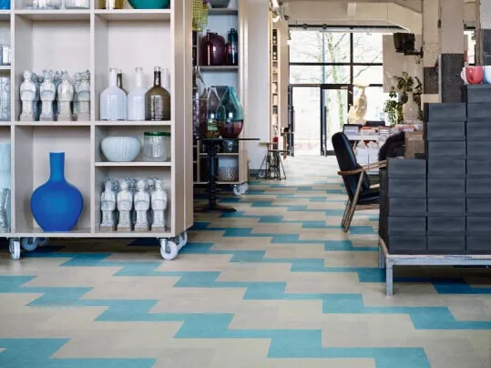 Marmoleum Modular floors for retail