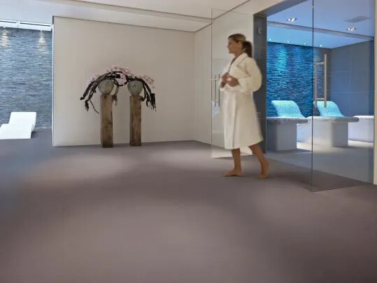 Step safety flooring for wellness areas
