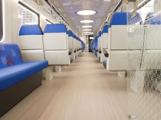 Marmoleum Striato – Dutch railways
