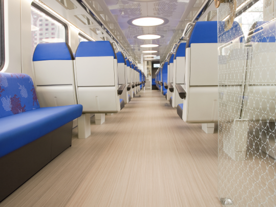 Marmoleum Striato - Dutch railways