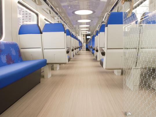 Marmoleum Striato – Dutch railways