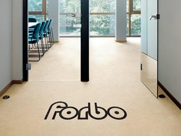 Linoleum aquajet flooring - forbo logo