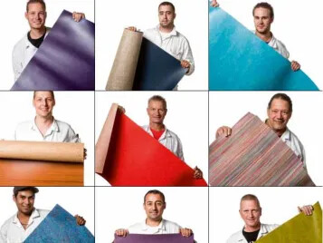 Our proud linoleum craftsmen
