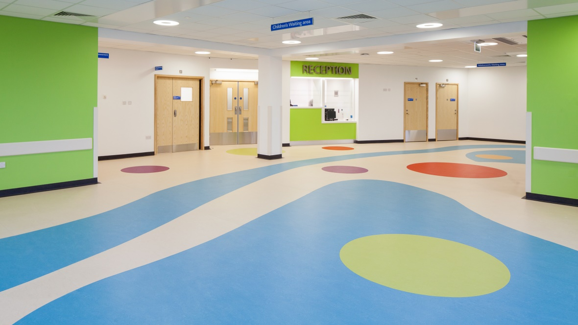 Sunderland Royal Hospital flooring