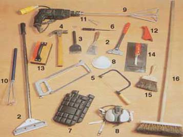 Subfloor prep tools