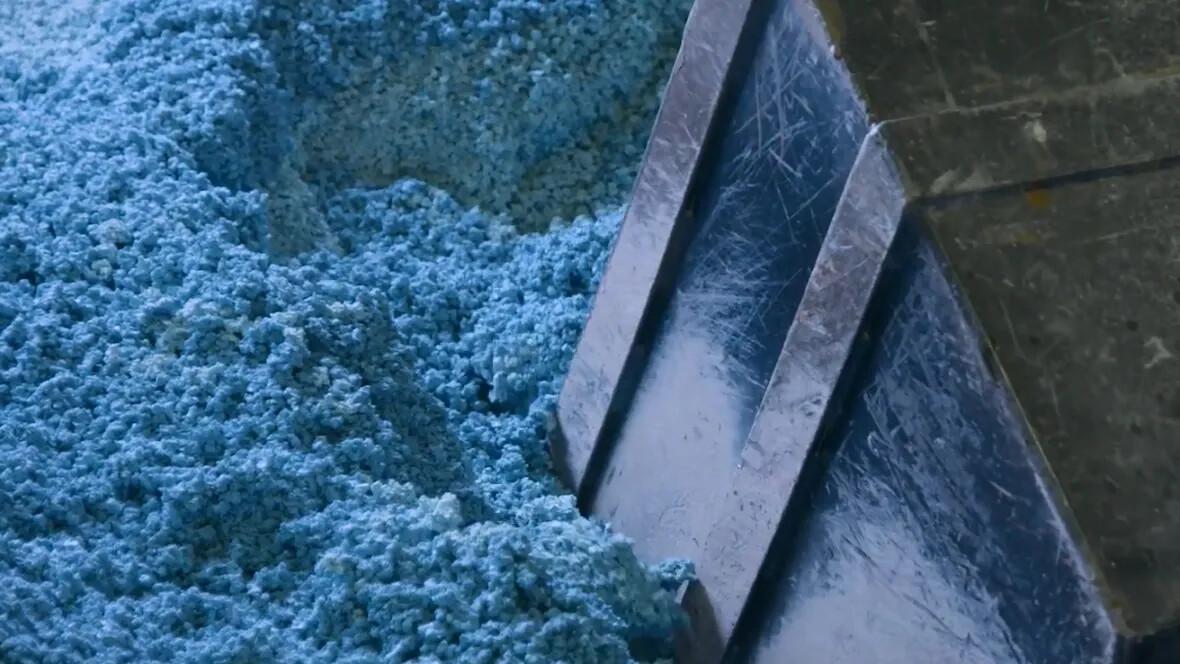 Linoleum granules