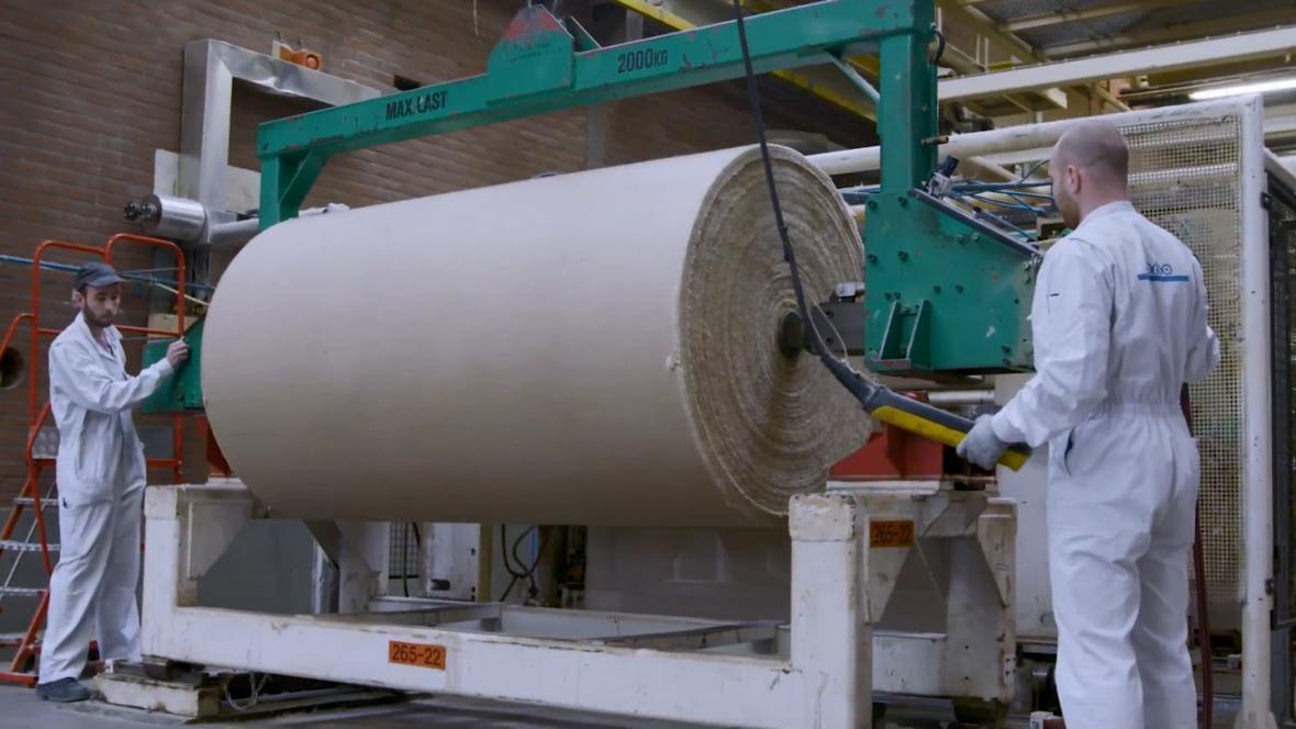 linoleum production factory