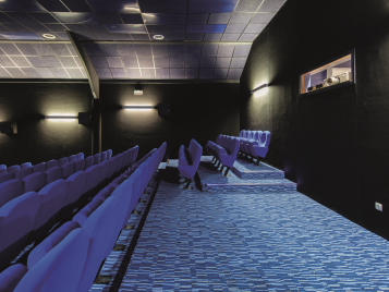 Flotex flocked flooring - cinema