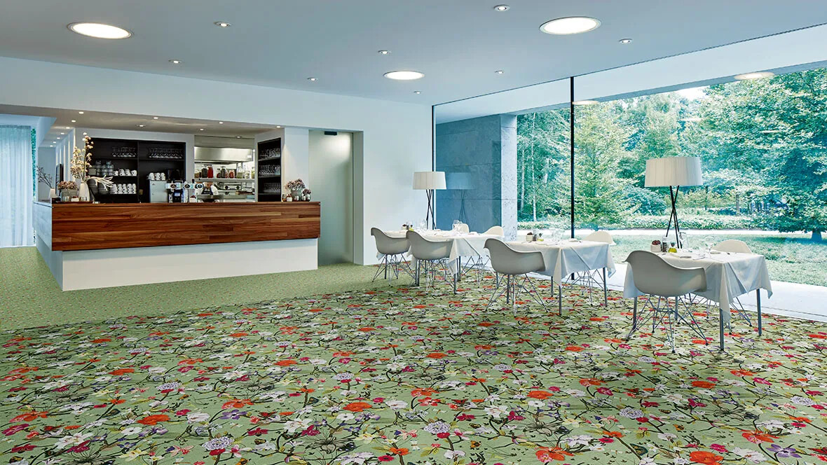 Flotex Vision flocked flooring - Restaurant