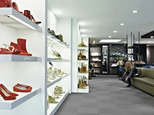Flotex textile tiles for retail