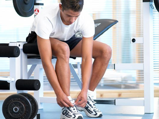 Marmoleum auf elastischer Unterlage in Fitnessbereichen